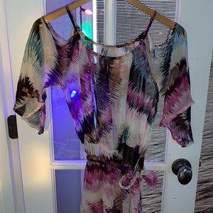 Sz M Pinkerton Anthropologie Tie Dye Silk Dress